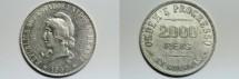 World Coins - Brazil Silver 2,000 Reis 1907  XF