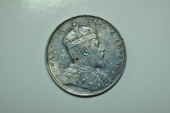 World Coins - Straits Settlements;  Silver Crown,  Dollar 1907   toned AU