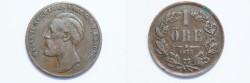 World Coins - Sweden Ore  1873 LA  VF