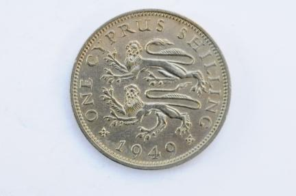 World Coins - Cyprus Shilling 1949  XF