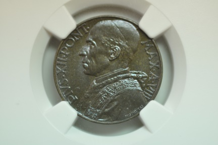 World Coins - Vatican; 10 Centesimi 1946 Anno VIII  NGC MS64   Mintage: 1,000  Highest Grade known!!!