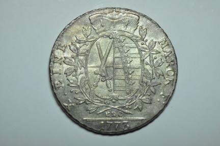 World Coins - Germany  Saxony - Albertine;  Thaler 1773 EDC     AU