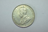 World Coins - Straits Settlements Silver 50 Cents  1920 Choice AU