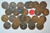 World Coins - British Honduras; 30 Coins Lot - Cent 1914-1926