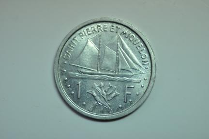 World Coins - Saint Pierre & Miquelon; Franc 1948  BU