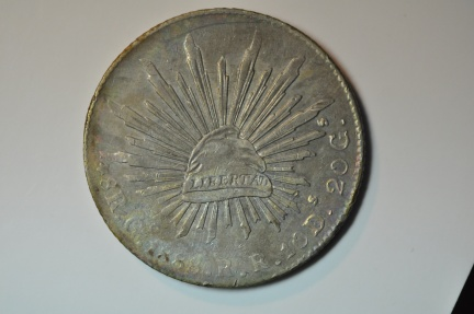 World Coins - Mexico; Silver 8 Reales 1888 Go R.R.  XF