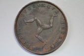 World Coins - Isle of Man; 1/2 Penny 1839  VF