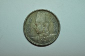 World Coins - Egypt; Silver 2 Piastres AH1356-1937  toned Au