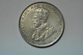 World Coins - Straits Settlements; Silver 50 Cents  1921  UNC