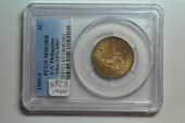 World Coins - USA - Philippines; Centavo 1909 S  - Allen-2.07a DDO  -  PCGS MS63 RB