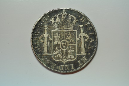 World Coins - Mexico War of Independence - Royalist Issue; 8 Reales 1821 Zs RG  VF
