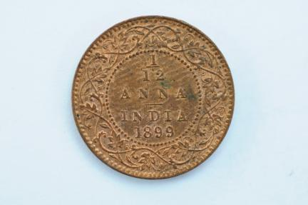 World Coins - British India 1/12 Anna 1899 (c)  UNC
