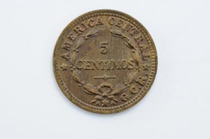 World Coins - Costa Rica 5 Centimos 1938  XF