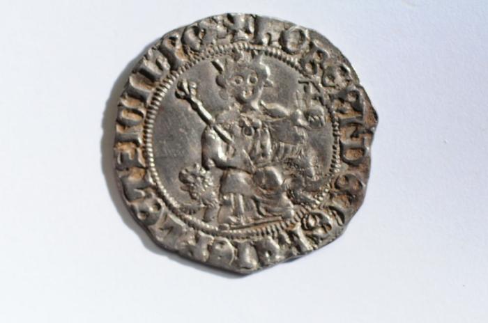 World Coins - Italian States - Naples Silver Gigliato no date 1309-1343  VF
