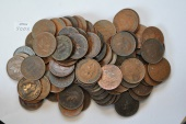 World Coins - Sarawak: Cent - Lot of 100 circulated coins 1927H; 1929H; 1930H; 1937H