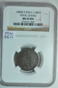 World Coins - Papal States; Mezzo (1/2) Baiocco 1840 R  Anno X  NGC MS62 BN  The highest grade known!!!