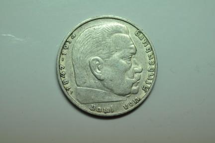 World Coins - Germany; Silver 2 Reichsmark 1939 F  VF