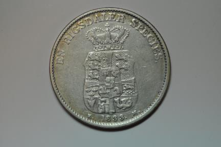 World Coins - Denmark; Silver Speciedaler 1833 KM