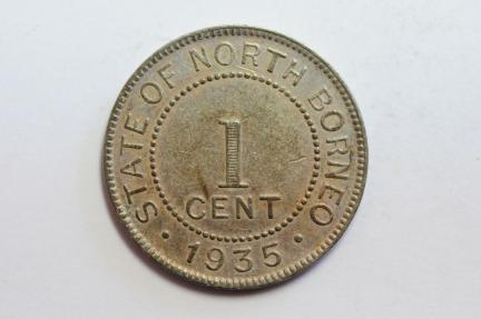 World Coins - British North Borneo Cent 1935 H  AU