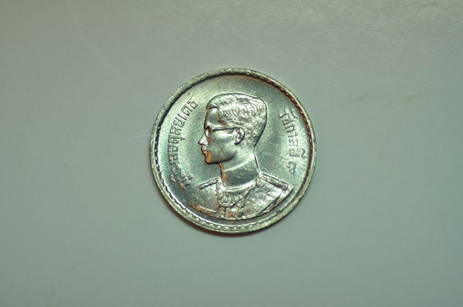 World Coins - Thailand; Tin 10 Satang  BE2AD  BU50