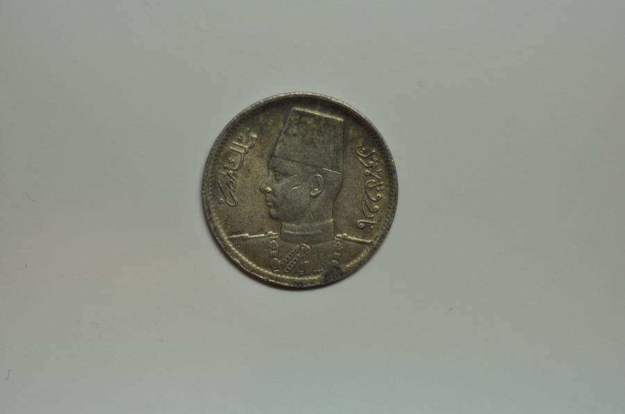 World Coins - Egypt; Silver 2 Piastres AH1361 - 1942