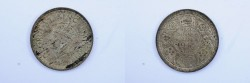 World Coins - India British Silver 1/4 Rupee 1945  XF