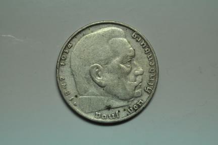 World Coins - Germany; Silver 2 Reichsmark 1939 G