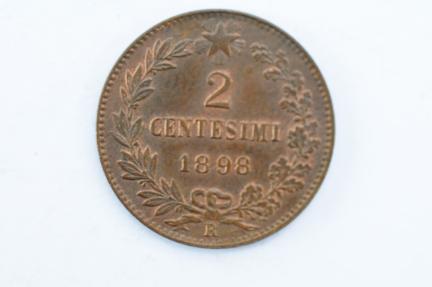 World Coins - Italy 2 Centesimi 1898 R  AU