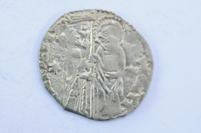 World Coins - Italy Venice Silver Grosso  ND 1400-1414