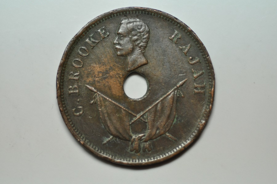 World Coins - Sarawak; Cent 1896 H   VF
