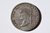 World Coins - Bolivia; Silver 8 Soles 1853 PTS FP   Toned XF  Scarce Date.