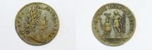 World Coins - France Royal Issue Brass Silvered Jetton ca 1715-1725  VF