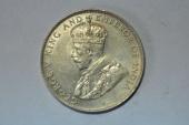 World Coins - Straits Settlements Silver 50 Cents  1921  AU