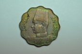 World Coins - Egypt; 5 Milliemes AH1362 - 1943  Au