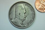 World Coins - Egypt; Silver 10 Piastres AH1341 - 1923 H