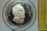 World Coins - Panama; Silver 20 Balboas 1973 (P) Subject: Simon Bolivar