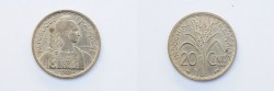 World Coins - French Indo China 20 Cents 1939  UNC