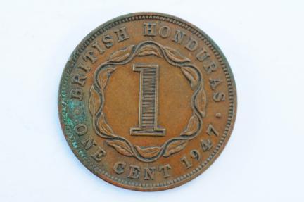World Coins - British Honduras Cent 1947  VF
