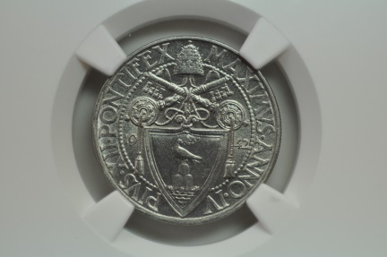 World Coins - Vatican; 20 Centesimi 1942 Anno IV     NGC MS66