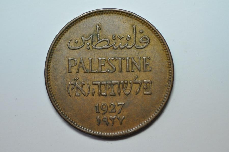 World Coins - Palestine; 2 Mils 1927  XF