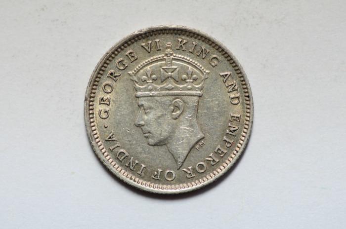 World Coins - British Guiana Silver 4 Pence 1944  BU