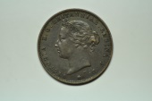 World Coins - Jersey; 1/24 Shilling 1877H  XF