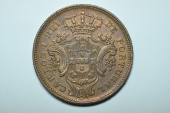World Coins - Azores; 10 Reis 1901