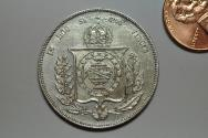 World Coins - Brazil; Silver 1000 Reis  1859  XF cleaned