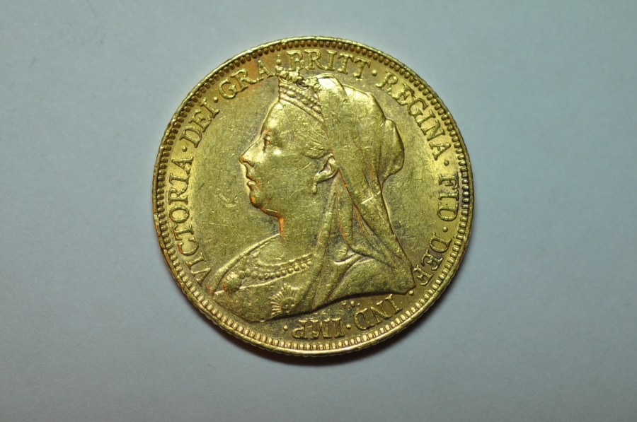 World Coins - Australia; Gold Sovereign 1899 M  UNC.