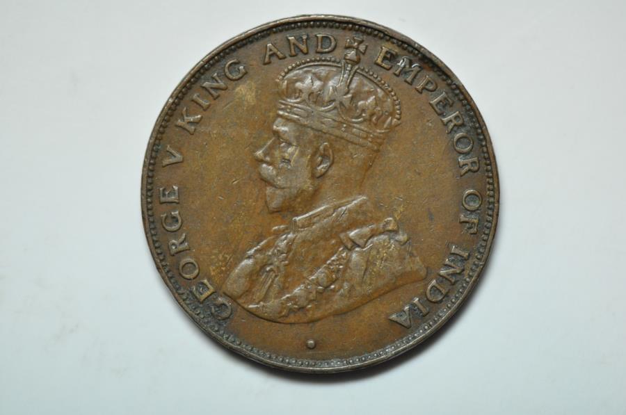 World Coins - Hong Kong; Cent 1923  XF