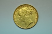 World Coins - Great Britain; Gold Sovereign 1885 - St. George  UNC-