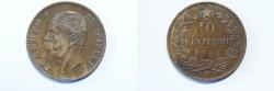 World Coins - Italy 10 centesimi 1893  BI    XF