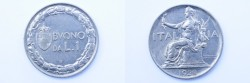 World Coins - Italy Lira 1922 R  UNC