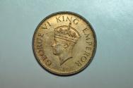 World Coins - India; 1/4 Anna 1940 (b)  George VI  BU